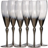 Silver Plated Champagne Flutes - Set Of Six