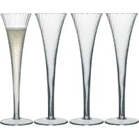LSA Aurelia Champagne Flute 200ml Clear Optic Set of 4