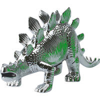 Stegosaurus Money Bank Silver