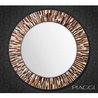 Roulette PIAGGI brown glass mosaic round mirror by Piaggi