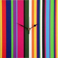 Candy Striped Clock