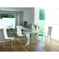 Biali Oval Glass Top Dining Table