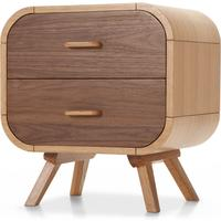 Fonteyn Bedside Table, Oak and Walnut from made.com