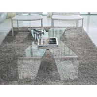 'X'  Glass Coffee Table