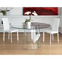 Puzzle Round Glass Dining Table