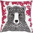 Mr Bear Cushion - Cerise from Art Star