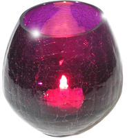 Purple Glass Tea Light Candle Holder from Ancienne Ambiance