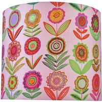 Lampshade designer fabric in pink or blue
