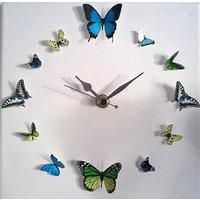3D Butterfly Circle no.17 Wall Art Clock from Burford Trading