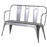 Grey Metal Garden Bench