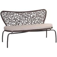 Brown Open Weave Bench