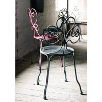 Pretty Black Iron Garden Chair