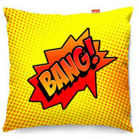 Comic Bang Yellow Sofa Cushion