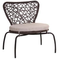 Brown Open Weave Garden Chair