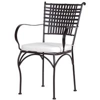 Black Lattice Garden Chair