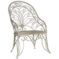 Grey Wash Metal Back Chair