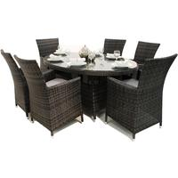 Oval Rattan Dining Set