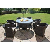 Wide Weave Rattan Round Dining Set in 3 Sizes