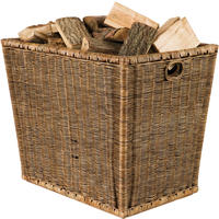 Burley Log Rattan Storage Basket from OKA