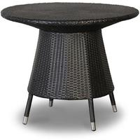 Round Black Garden Table