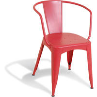 Manhattan Industrial Chair - Red