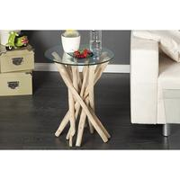 STICKS - design side table driftwood glass end table