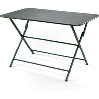 Folding Metal Table in Green - Clearance