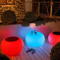 Bubble LED Multicolour Table or Seat  - Outdoor