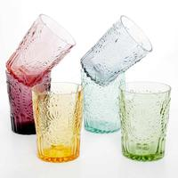 6 x Portuguese Handmade Pastel Water Glasses