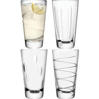 LSA Set of 4 Charleston Highball Glasses