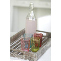 4 x Assorted Colour Drinking Glasses
