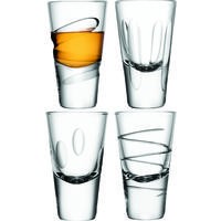 LSA Set of 4 Charleston Vodka Glasses