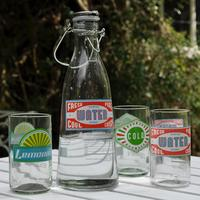 Recycled Glass Retro Water Bottle