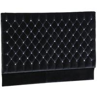 Luxury Black Velvet Jewelled Headboard