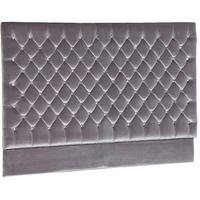 Luxury Grey Velvet Jewelled Headboard