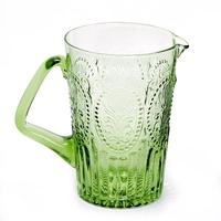 Handmade Portuguese glass Jug - Green