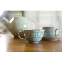 Carla Milk Jug in Blue/Red