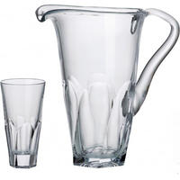 Bohemia Crystal Set Jug And 6 Hiballs