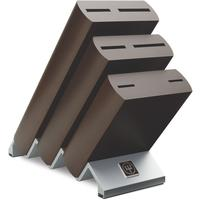 Wusthof Knives - Ikon 6 Piece Knife Block with Metal Base - Dark Wood