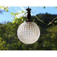 Vintage Crystal Ball Light Fitting
