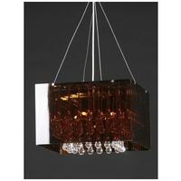 Claire L - crystal drops pendant lamp with bronze lamp shade