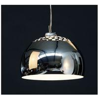 Sphere lamp shade in polished chrome