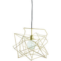 Scribble Gold Wire Pendant Shade