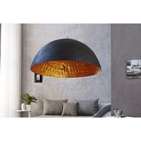 Calista XL - 70cm large black lamp shade with gold lining