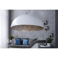 Calista XL - 70cm large white lamp shade with gold lining