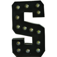 Electric Light Bulb Letter S