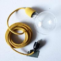 yellow knitted inspection light with bulb