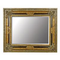 Large Gold Mirror With Black Details - Two Size Options.