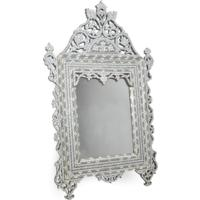Mother of Pearl and Bone Inlay Mirror