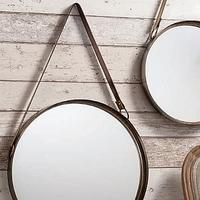 Round Hanging Mirrors (Set of 2)